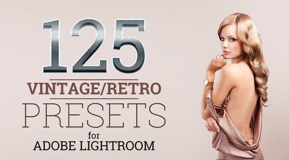 Пресет 125 винтажных и ретро пресетов для lightroom